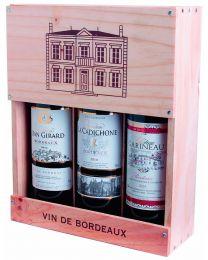 Bordeaux AC 3 flessen in het originele kistje van het château