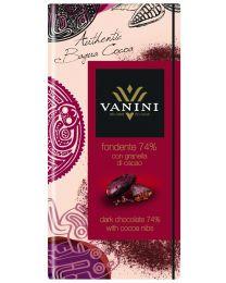 Chocolade met cacao stukken 74%